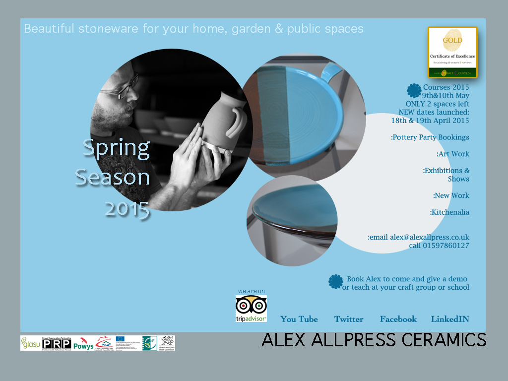 alex allpress ceramics home page